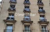 T2021-119, Proximité du bassin de la Villette, 3 p 57 m² immeuble pierre de taille, traversant, TRAVAUX
