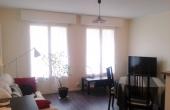 2 pièces de 46 m², calme, séjour sur espace intérieur arboré